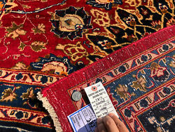 Big Red Oriental Rug 10x13 Wool Hand-knotted Carpet Fine Rugs 9x12 10x12 10x14