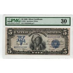 1899 5 Silver Certificate Indian Chief - Pmg Very Fine 30 - Fr. 281