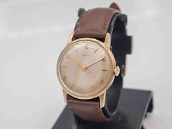 1963 - Timex Mercury Men's Hand Wind Gold Tone Wrist Watch - Runs And Keeps Time