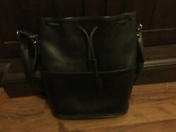Vintage Coach Bucket Bag Black Model H7D 9804 Made in the USA $90.00
