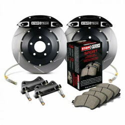 Stoptech For Mazda Rx-8 2004-2011 Front Big Brake Kit W/ Black St-40 Calipers