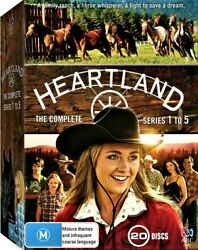 Heartland The Complete Season 1 To 5 Dvd Abc Tv Series Horse 20-disc Gift New R4