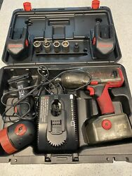 Snap On Ct 4850 Impact Wrench With Three Batteries, Led Light, Charger And Case