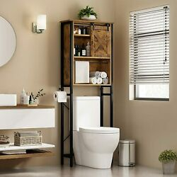 Over The Toilet Space Saver Organization Wood Storage Cabinet For Home Bathroom