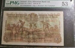 Ploughmans Andpound5 5/8/38 About Uncirculated Pmg 53 Only A Few In This Condition Left