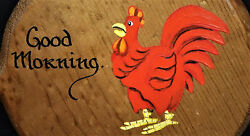 Good Morning Rooster Chicken Wood Country Trivet Simply Southern Wall Decor