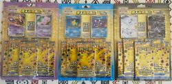 Pokemon Chinese S8a 25th Anniversary 3 Rapture Gift Boxes- One Of Each In Hand