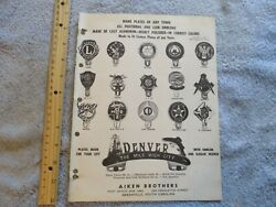 Auto Fraternal / Club License Emblems And Badges Book