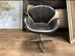 Restoration Hardware And039devonand039 Leather Swivel Chair - Deal
