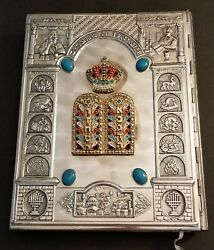 Vtg Haggadah Executed By Arthur Szyk Edited By Cecil Roth Metal Jeweled Cover