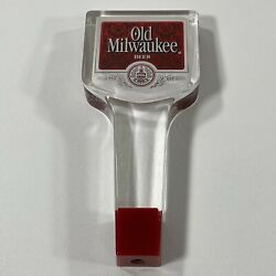 Vintage Old Milwaukee Beer Acrylic Tap Handle - Good Condition