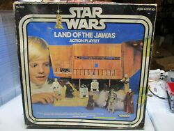 Vintage Star Wars Land Of The Jawas Action Playset - Complete With Box