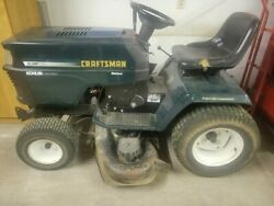 Craftsman Garden Tractor With Snow Plow And Bagger
