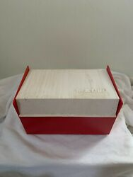 Vintage View-master Reel Storage Case Hard Plastic Red And White 1960and039s