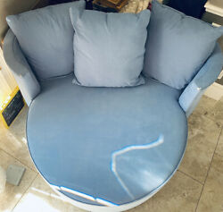 Disney Ethan Allen Mickey Mouse Club Chair And A Half Blue