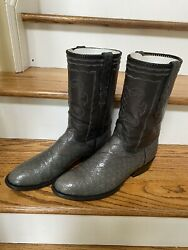 To Stanley Alligator Vintage Cowboy Boots T O 412 12 D Handmade Not Lucchese