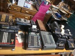 Lot Of Antique Typewriters And Adding Machines