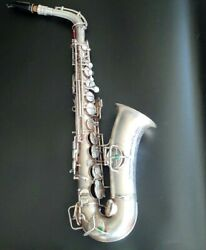 Very Nice Vintage Silver Plated Conn Wonder Alto Saxophone With Gold Wash Bell