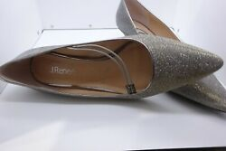J.Renee Womens Idenah Sparkly Silver Pewter 11W Pointed Toe Dress Pumps $26.00