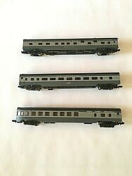 3 Con-cor N Gauge Nyc Smooth Side Passenger Cars In Obs