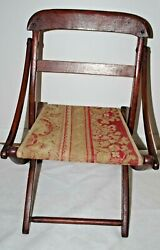 Civil War Officers Folding Rug Chair In Original Very Good Condition