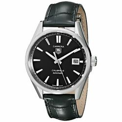 Tag Heuer 2500 Menand039s Carrera Calibre 5 Automatic Leather Watch War211a.fc6180
