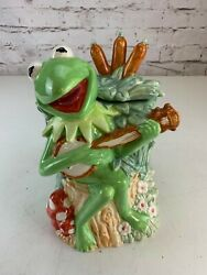 Vintage The Muppets Kermit The From Playing Banjo Ceramic Cookie Jar