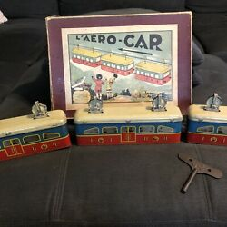 Antique French Cable Car Tin Toy