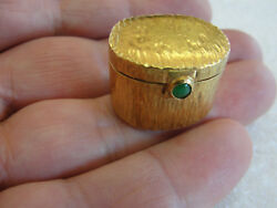 Antique Vintage 24k Pure Yellow Gold Hand-made Oval Pill Box Trinket Box 28 Gr