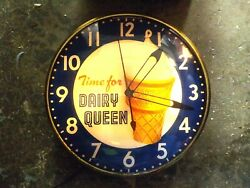 Pam Dairy Queen Advertising Clock With Lighted Dial