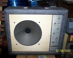 1960and039s Sears Silvertone 1482 1x12 Guitar Amplifier / Missing Grill And Knobs