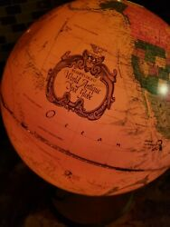 1980and039s World Antique Spot Globe By Readers Digest - Lighted - Made In Denmark