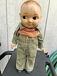Vintage Buddy Lee Train Conductor Advertising Doll Railroad Union Made