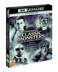 Universal Classic Monsters Icons Of Horror Collection [4k Uhd] 4-movie Box Set
