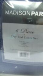 Madison Park 6 Piece Day Bed Cover Set 1 Cover 3 Shams 1 Bed Skirt 1decor Pillow