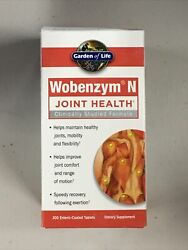 Garden Of Life Joint Support Supplement - Wobenzym N Systemic Enzymes 200