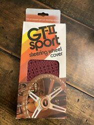 Vintage Gt-ii Sport Steering Wheel Cover Red New Nos Lace Up