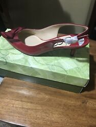 J RENEE New Leather Women Shoes Sz 9.5 M Cranberry Red $45.99