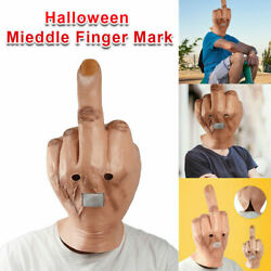 Halloween Despise Middle Finger Latex Full Head Costume Party Cosplay Props