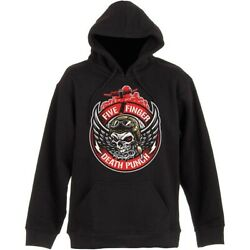 Five Finger Death Punch Winged Skull Official Hoodie Hooded Top