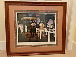 Racing At Broussardand039s Farm By George Rodrigue Original Print 448/985andnbsp
