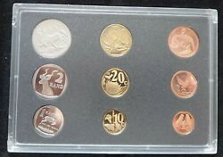 South Africa 9 Dif Proof Coins Set 1 Cent - 5 Rand 1998 Year + Box + Coa