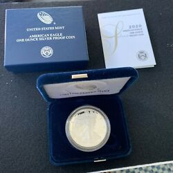 2020-s American Eagle One Ounce Silver Proof Coin 1oz Dollar
