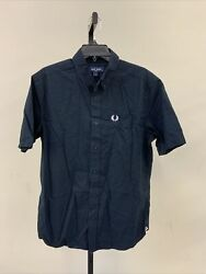 Fred Perry Men's Button Up Shirt Size M Navy $24.50