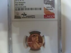 2019 W Lincoln Cent West Point Mercanti Signed Ngc Ms70rd First Release.