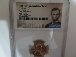 2019 W West Point Ngc Ms70 First Release Lincoln Cent And Lincoln Labels.