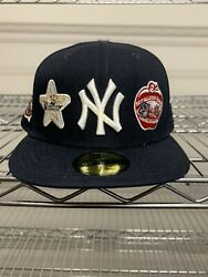 New Era Icons All Star Logos Ny Yankees Hat - 7 1/2 Hat Club Exclusive