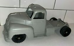 Vintage Marx 1950-60s Gray Soft Plastic Tractor Trailer Cab Only 10 Long
