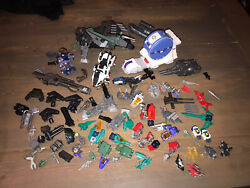 Rare Tomy Zoids Lot Mini Hover Cargo Playset And 6 Mini Figures Plus Many Parts