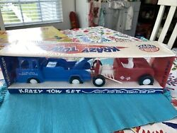 Last One Nos 1950-60andrsquos Auburn Rubber Play Safe Toys Krazy Tow Set Hot Rod Indy